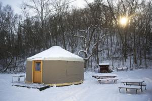 Spend a night or two in a yurt is Winona's latest winter recreation offering
