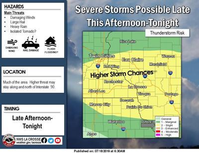 Storms move through La Crosse area; heat is next