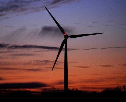 Stock wind turbine photo