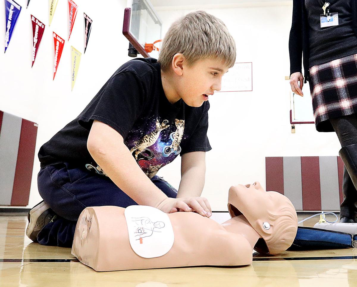 Learning CPR at First Lutheran
