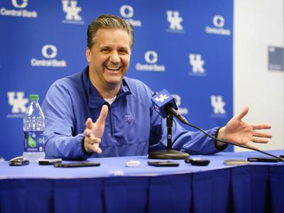 Kentucky basketball coach John Calipari talks to the media on May 11, 2016, in Lexington, Ky.