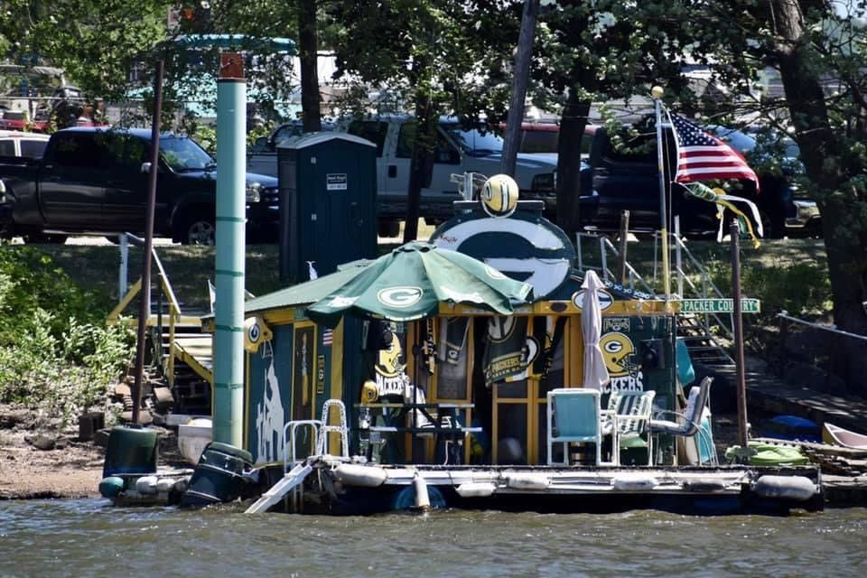 Dennis Myers' Packers' boat house