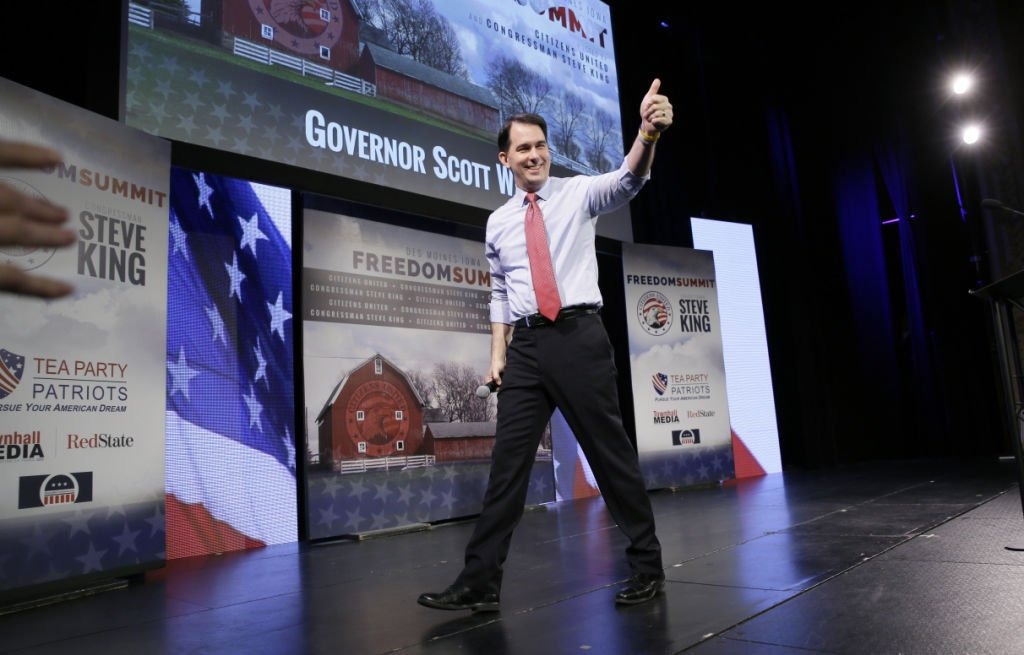 The first act of Scott Walker's second term was dominated by presidential politics
