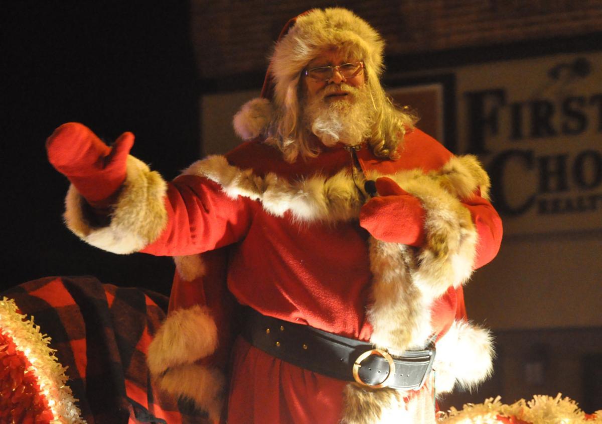 Santa in 2016 Tomah holiday parade