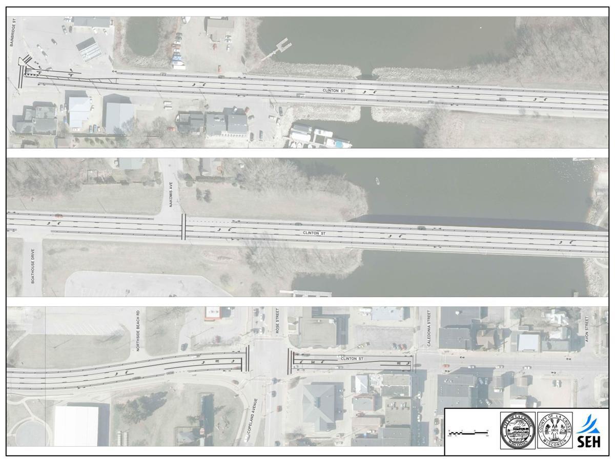 PDF: Clinton Street re-striping plans