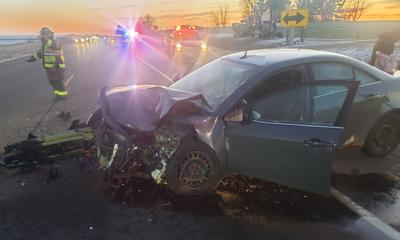 Two-vehicle accident