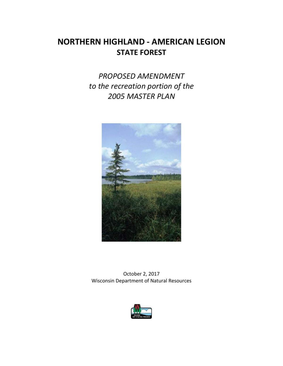 Proposed NHAL state forest amendment