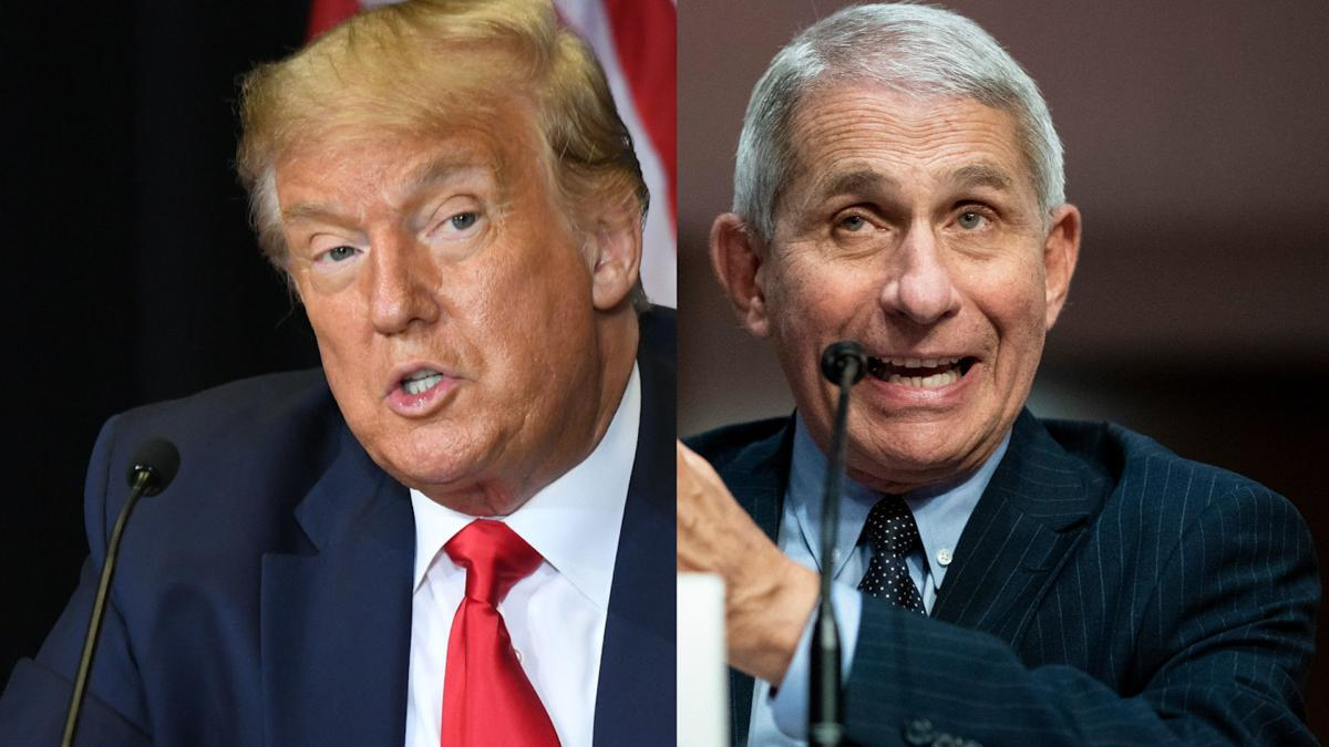 White House takes aim at Fauci as he disagrees with Trump on virus