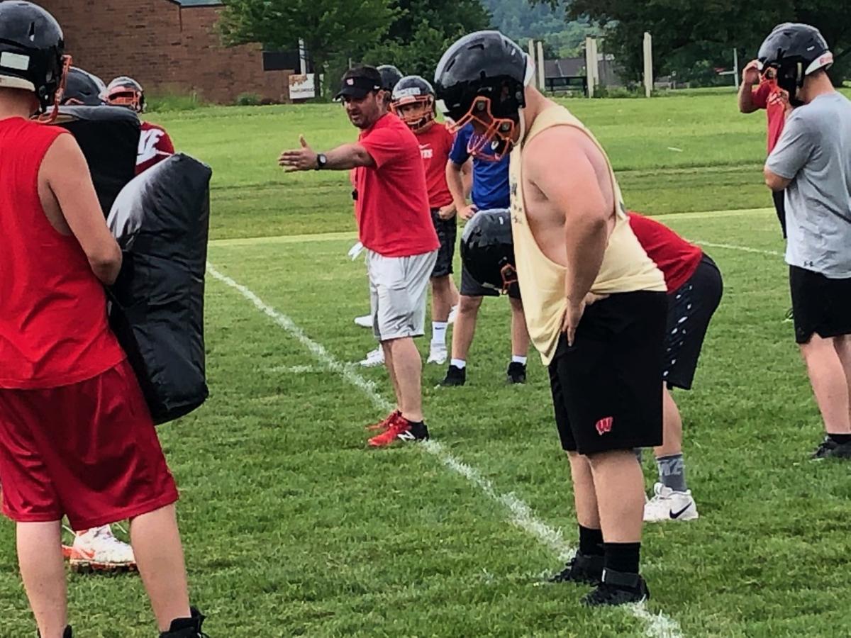 West Salem football coach Justin Jehn