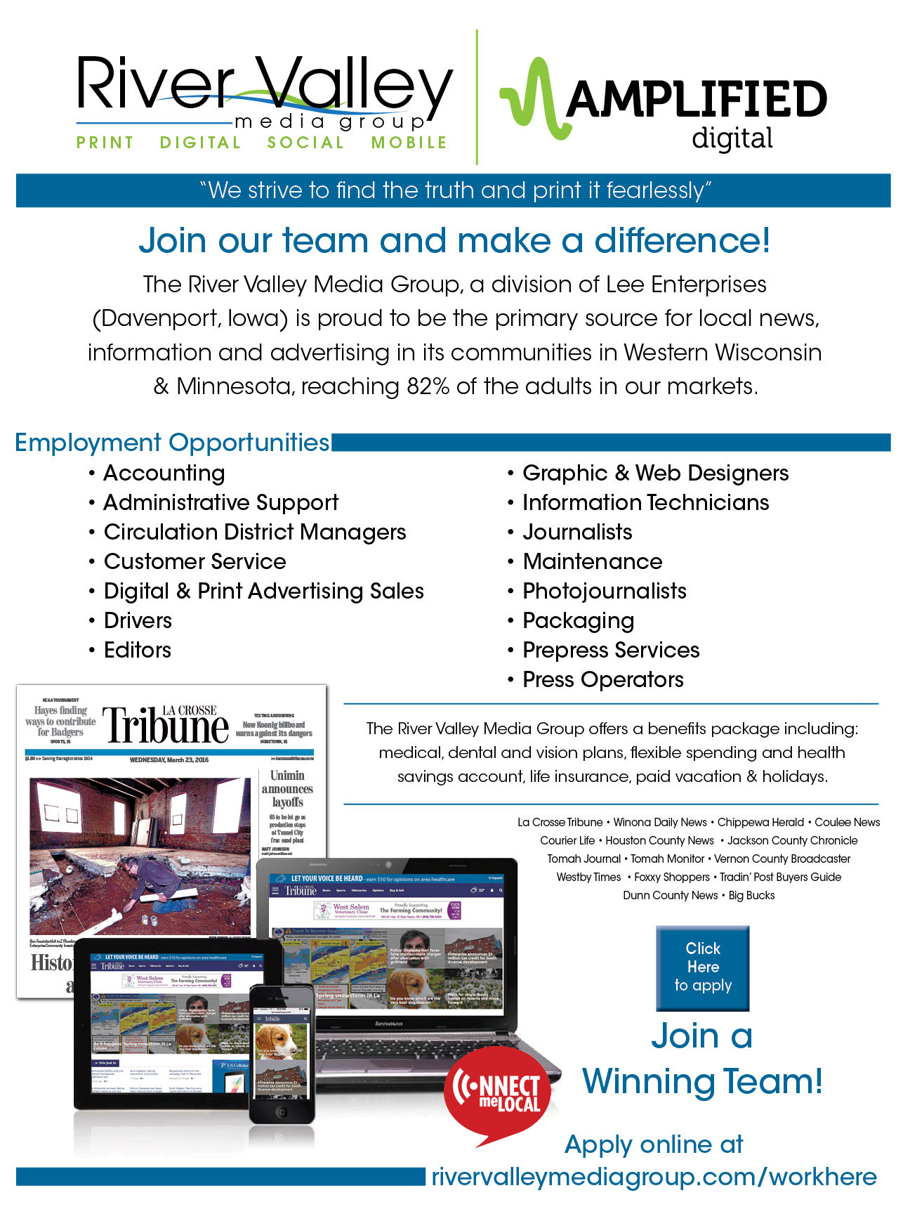 la crosse wi employment jobs careers lacrossetribune com