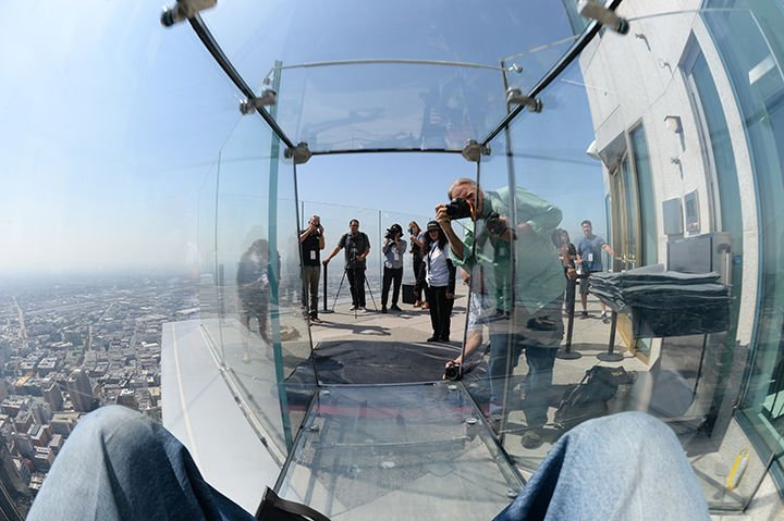 Us Bank Slide >> Discovering Skyspace And A Glass Slide At U S Bank Tower News