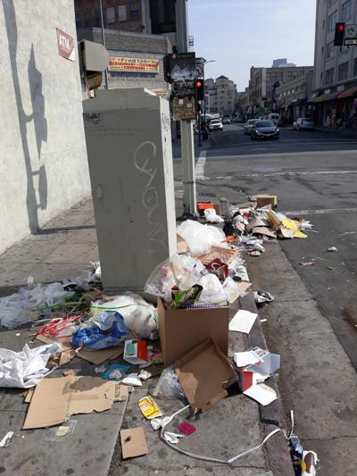 A Downtown Garbage Disaster