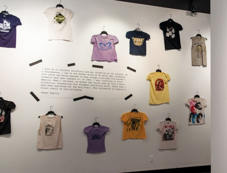 Rock t shirts in fashion at fidm exhibit arts and for T shirt printing downtown los angeles