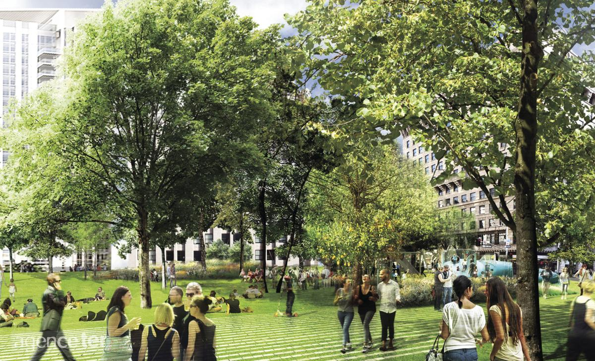 See Updated Designs for Pershing Square Renovation