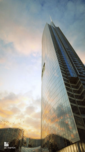 New Wilshire Grand Design Revealed Los Angeles Downtown