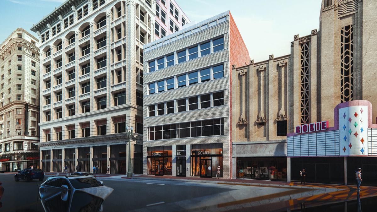 Work Wraps on Broadway Building