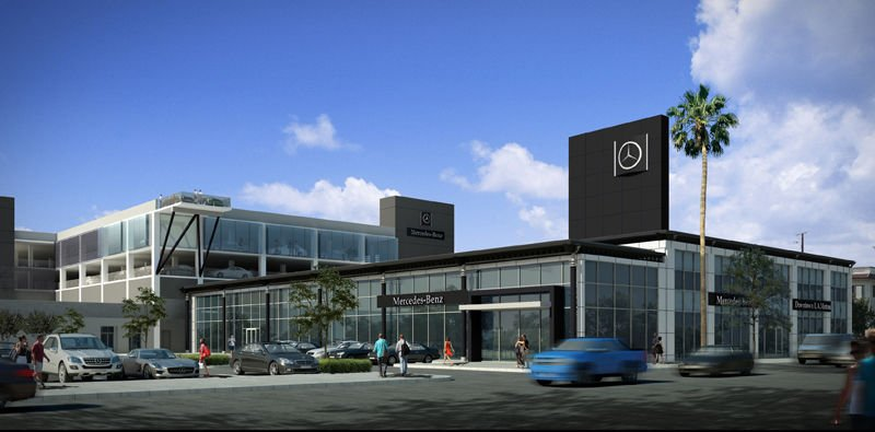 Mercedes benz dealership gets 30 million renovation for Downtown la motors mercedes benz