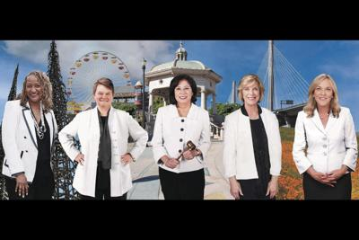 Sheila Kuehl, third district; Hilda Solis, first district; Janice Hahn, fourth district; and Kathryn Barger, fifth district