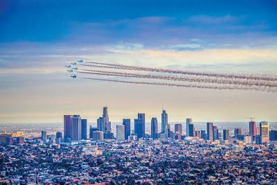 Thunderbirds Over Downtown Los Angeles