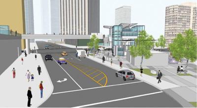 Regional Connector Station  Could Get Pedestrian Bridge
