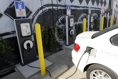 Electric Car Charging Stations Open In Arts District