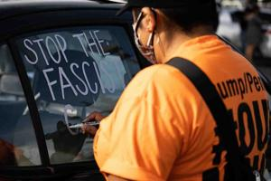Refuse Fascism demonstrates in response to Capitol coup