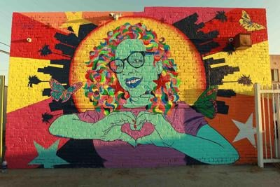 The mural of Starr Greenfield