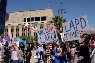 Downtown LA rally