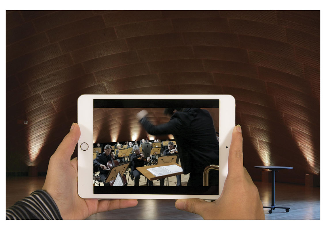 A High-Tech Augmented Reality Tour Guides Visitors Through Disney Concert Hall