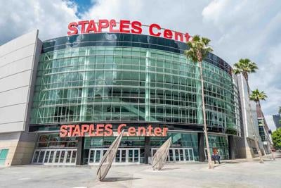 Staples Center at Downtown Los Angeles - CALIFORNIA, USA - MARCH 18, 2019