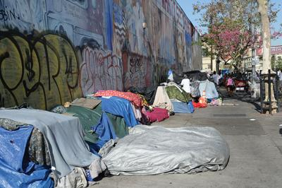 Skid Row homeless encampment in downtown Los Angeles in the rain 5d4e0213d086f.image