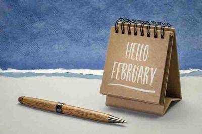 hello february greeting card