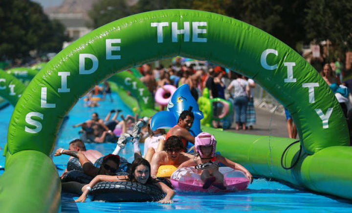 New Location for Giant Downtown Slip and Slide