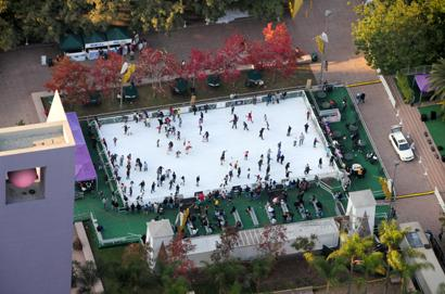 Image result for Pershing Square in Los Angeles ice skating