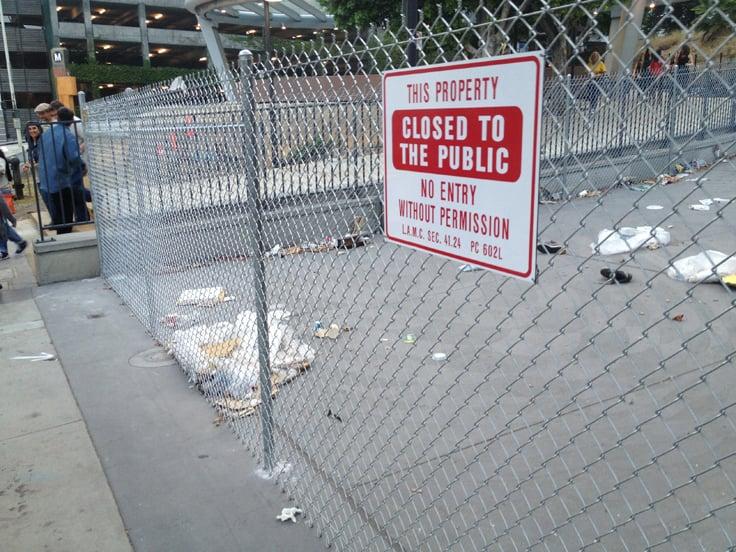 CRA Fences Off Angel's Knoll, Hill Street Plaza