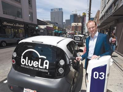 Electric Vehicle Car-Sharing Service Brings a New Kind of Drive Time to Downtown