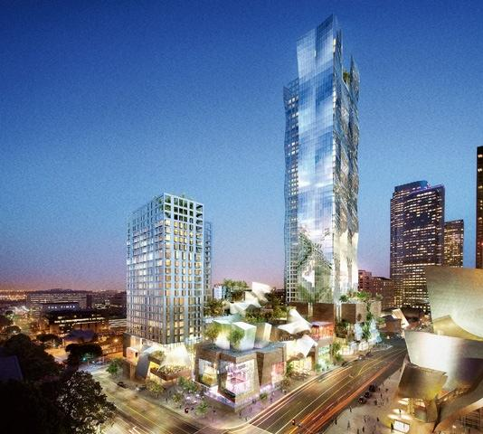 Developer unveils new plan for grand avenue news for Highrise apartments in los angeles