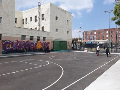 New Basketball Court, Other Upgrades Made to Skid Row Parks
