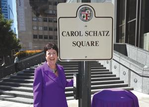 Hope and Wilshire Becomes Carol Schatz Square