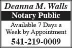 Deanna Walls Notary Public - thru 2019