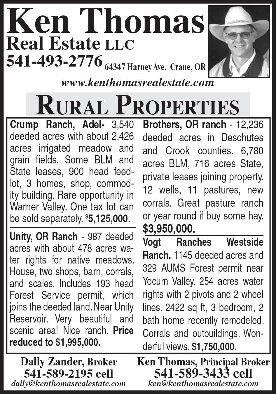 Ken Thomas- Ranch Properties for Sale