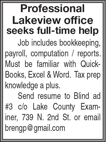 Blind ad - Employment