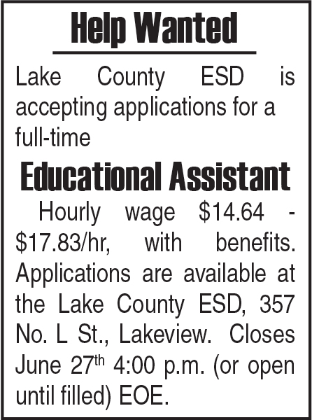 Lake Co. ESD - Educational Assistant