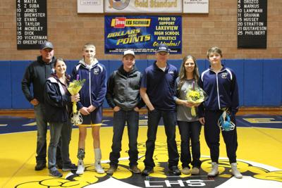 LHS wrestling seniors honored in Modoc meet