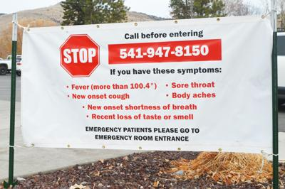 Lake Hospital COVID sign
