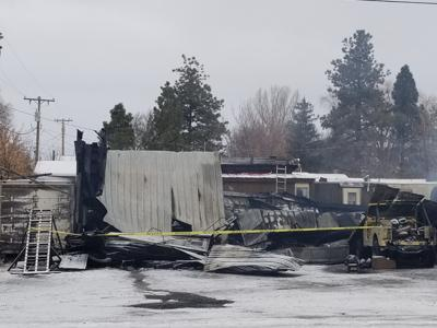 Fire rips through local business late Friday