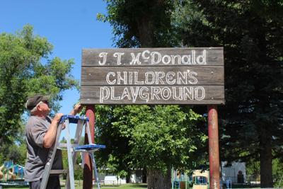 McDonald Park sign gets update