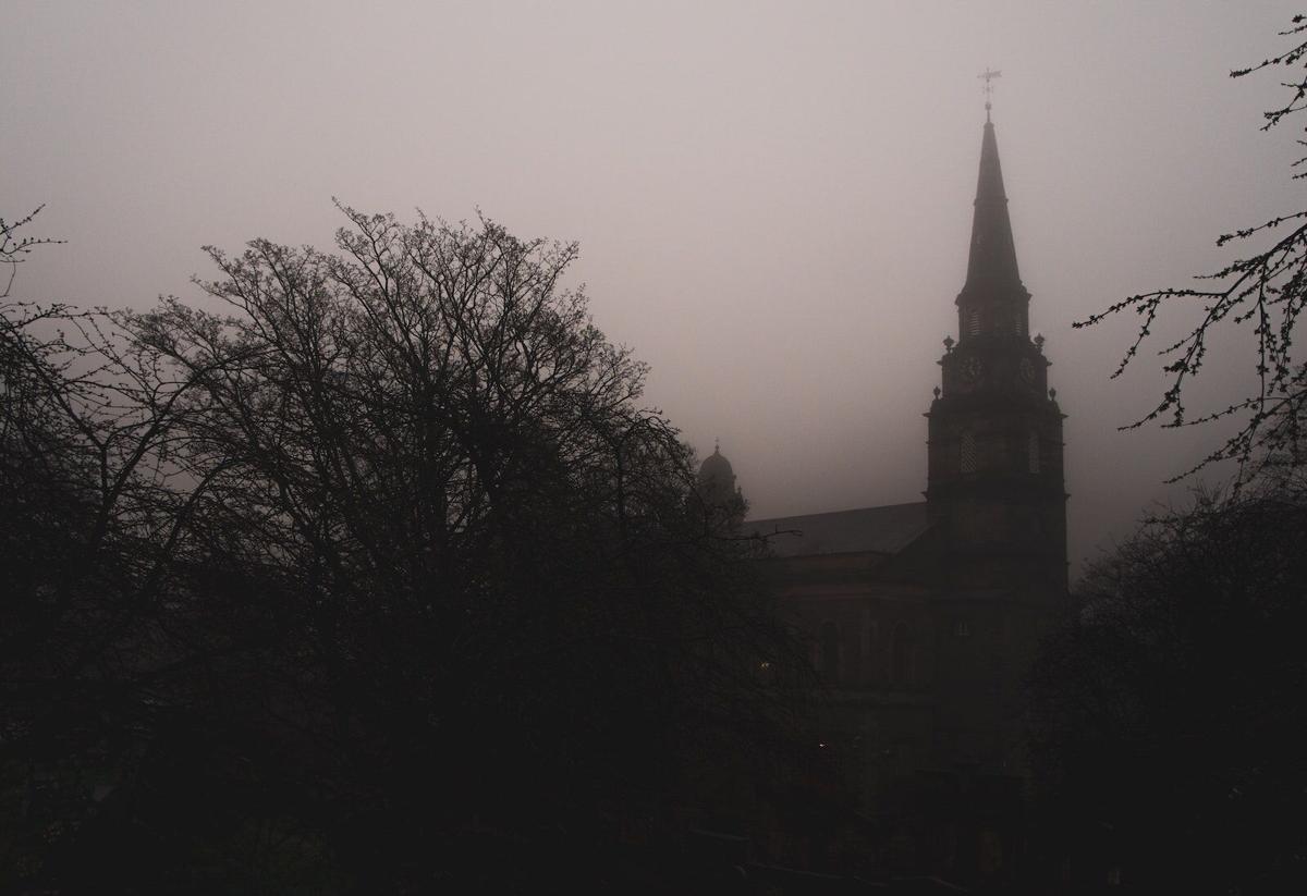 foggy steeple