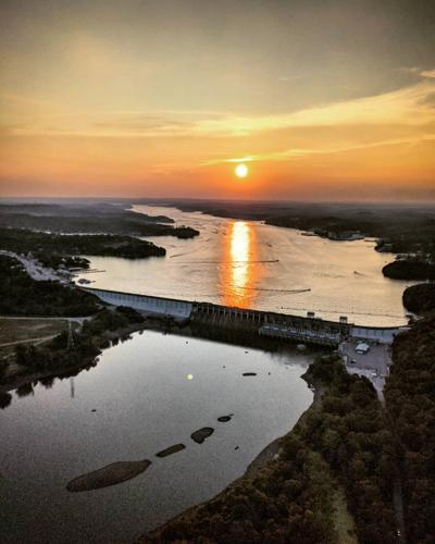 View of Lake Of The Ozarks from a Helicopter