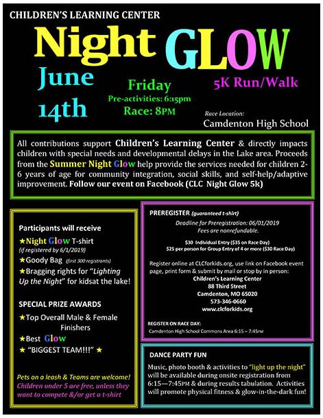 CLC Summer Night GLOW 5K Run/Walk